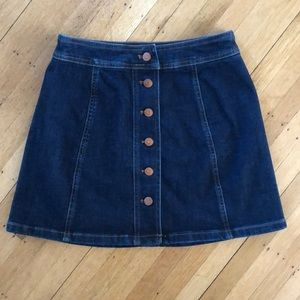 Madewell A-line Denim Skirt